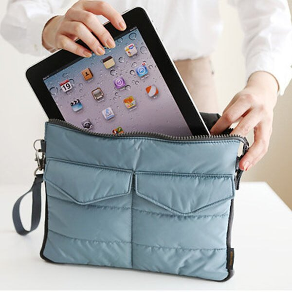 隨身收納包-韓國多功能雙層收納口袋造型防水耐震電腦包 平板保護套 【AN SHOP】 - 限時優惠好康折扣