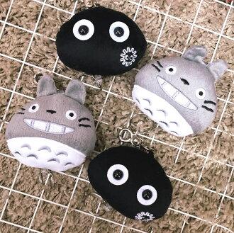 PGS7 日本卡通系列商品 - 龍貓 系列 胖胖 伸縮 鑰匙圈 Totoro 吉卜力 宮崎駿 小灰塵 鑰匙包