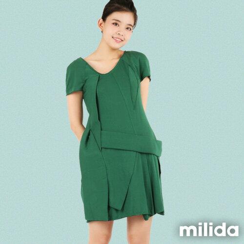 【Milida,全店七折免運】-夏季尾聲-素色款-厚棉立體造型設計 2
