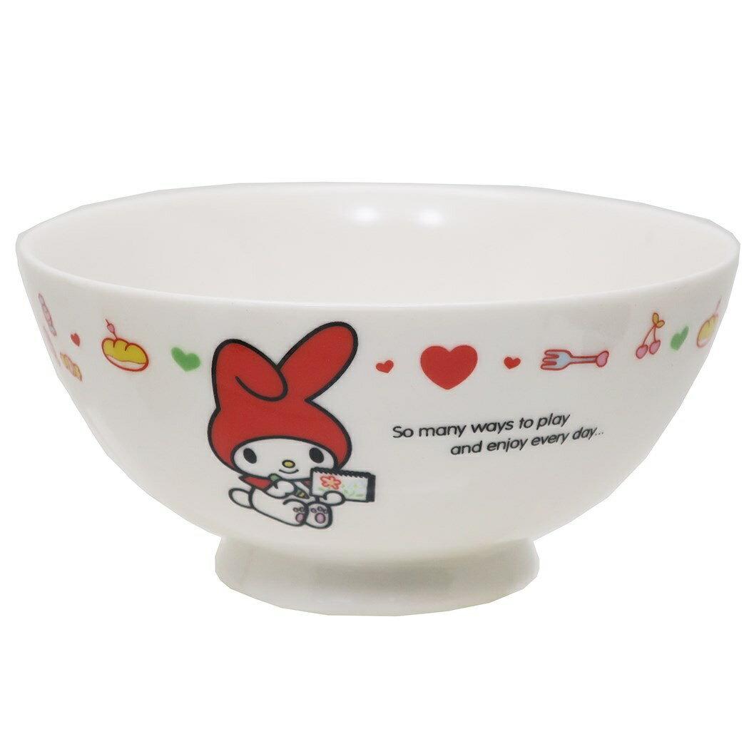 碗 日本 美樂蒂 雙子星 愛心 星星 插圖 餐具 瓷碗 正版日本進口授權