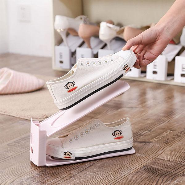 組合式雙層鞋架 簡約設計 現代收納鞋架