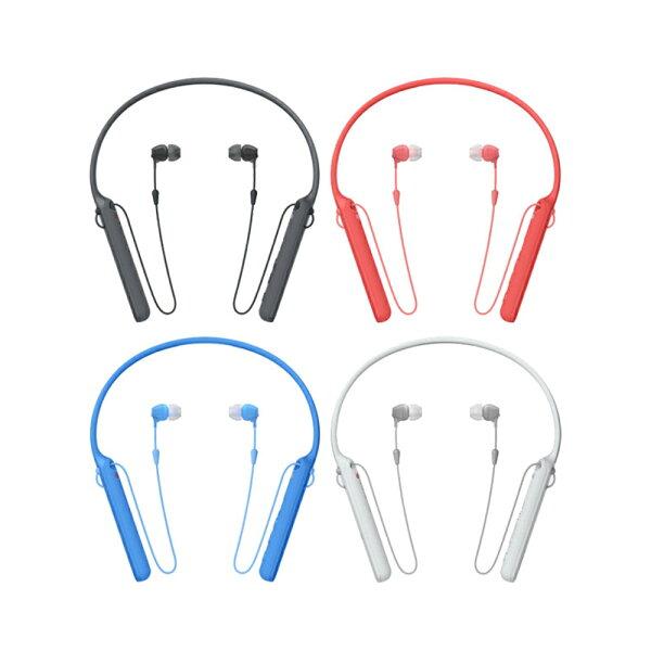愛美麗福利社:SONYWI-C400無線入耳式藍芽耳機頸掛型耳塞式來電震動提醒公司貨支援NFC