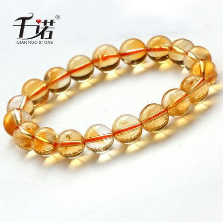 黃水晶手鏈橘黃水晶手鏈11.3mm 男女都可以佩戴