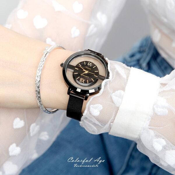 手錶 正韓Lavenda精緻鏤空米蘭腕錶【NEK43】 柒彩年代
