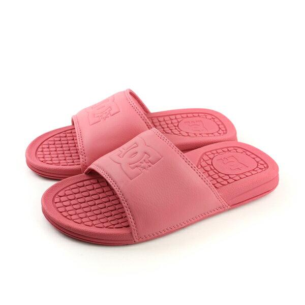 DC 拖鞋 粉紅色 女鞋 no136