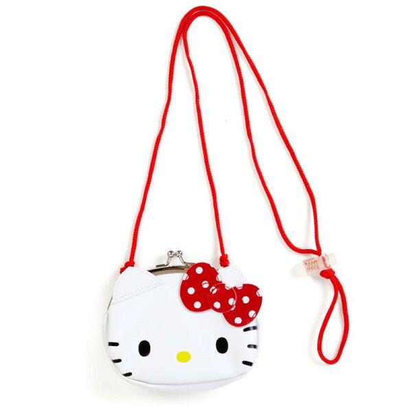 X射線【C945568】HelloKitty零錢包附繩-臉,美妝小物包筆袋面紙包化妝包零錢包收納包皮夾手機袋鑰匙包