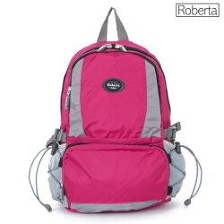 【Roberta Juden】小背包背開拉鍊 輕量防潑水布料(R701-桃色)【威奇包仔通】