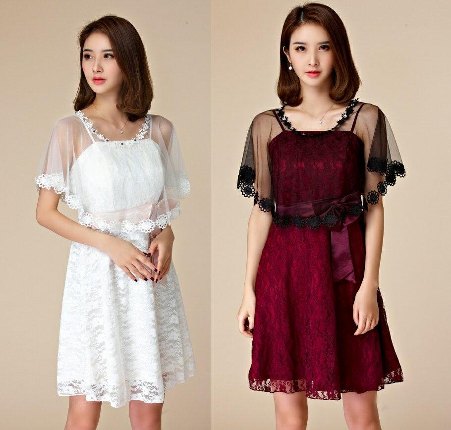 天使嫁衣【J2K9668】2色婚紗禮服百搭披肩蕾絲防曬披肩小外套˙預購訂製款