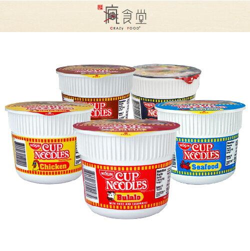 菲律賓 日清 NISSIN 迷你杯麵 雞肉 / 牛肉 / 海鮮 / 辣味海鮮 / 牛肉肉骨 40g