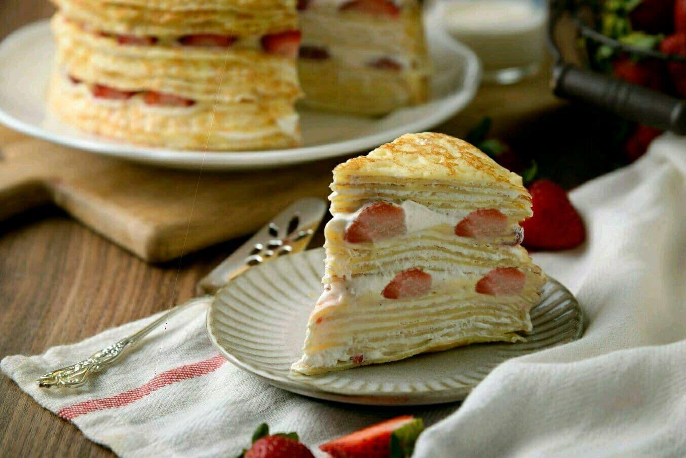 【 草莓千層蛋糕】 ⛄冬季限定❄️ 法式千層首選  6吋 3