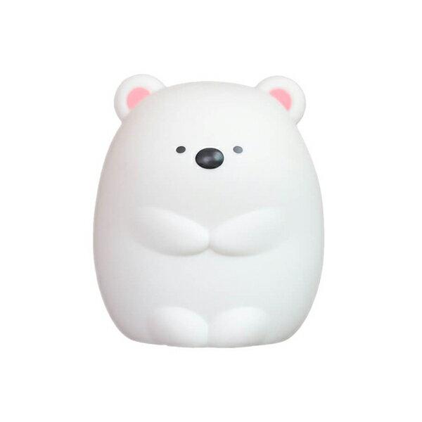 熊熊造型拍拍小夜燈 拍拍燈 小夜燈 USB 充電 觸控 變色 情境 床頭 臥室 房間 療癒 居家 『無名』 R03104