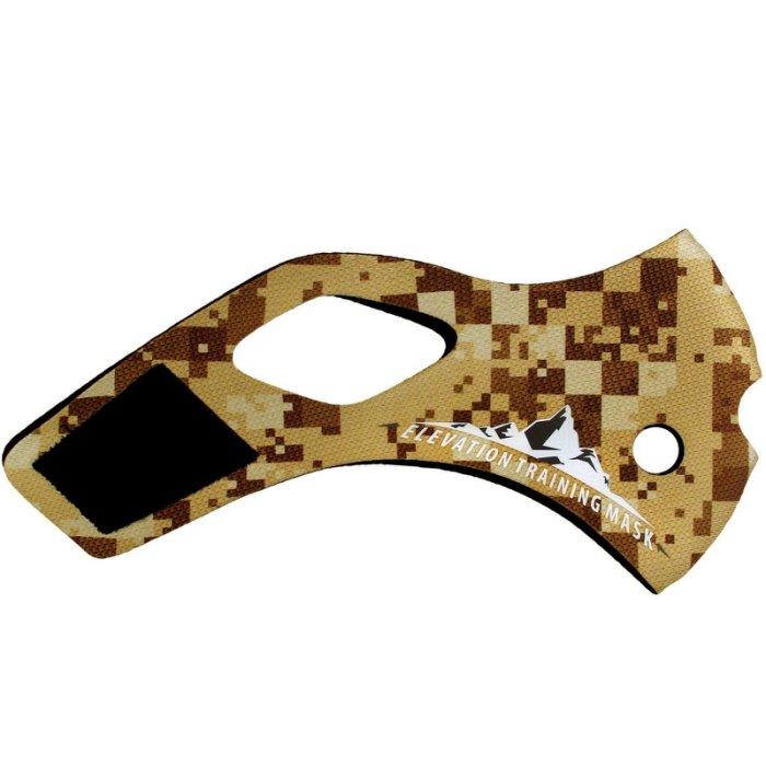 三鐵~馬拉松~單車訓練高海拔面罩Training Mask 2.0 面罩皮-美軍沙漠數位迷彩款L size