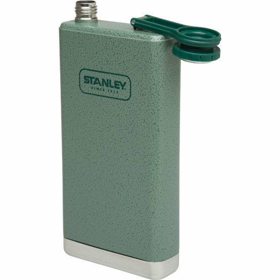 【【蘋果戶外】】Stanley 1001564 美國 SS Flask 236ml 美式復古軍用不鏽鋼水壺 錘紋綠