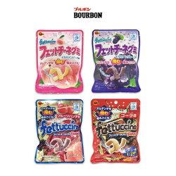 北日本BOURBON fettuccine軟糖 - 水蜜桃 / 葡萄 / 綜合水果汽水 / 可樂