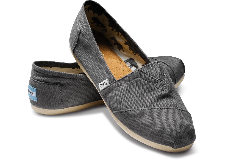 【TOMS】灰色素面基本款休閒鞋   Ash Canvas Women's Classics