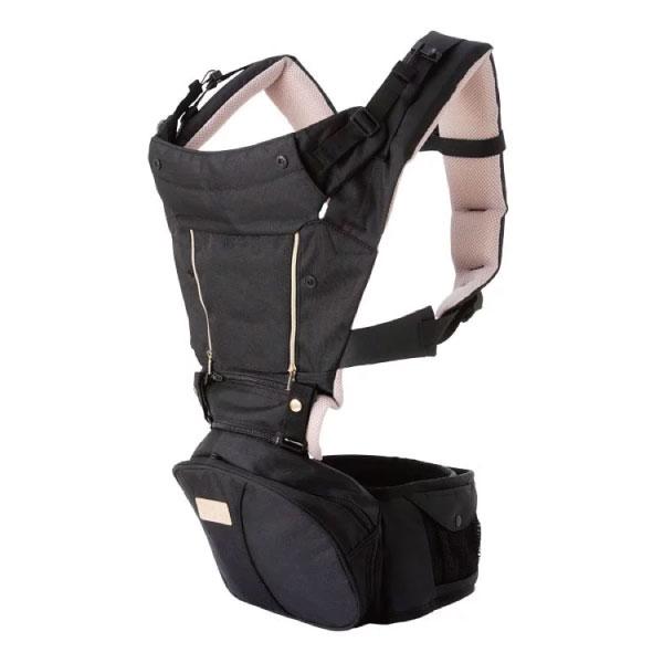 【附贈新生兒軟墊】SINBII EZbag 2.0Plus 全階段嬰兒背帶/背巾-黑曜金