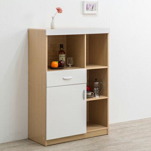 收納/廚櫃/收納櫃/整理櫃 TZUMii雅典娜美背收納廚房櫃-亮麗白