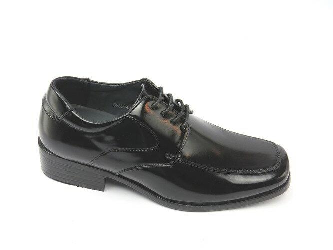 *男皮鞋* 時尚舒適方頭排壓氣墊皮鞋77-9865(黑)☆【彩虹屋】☆