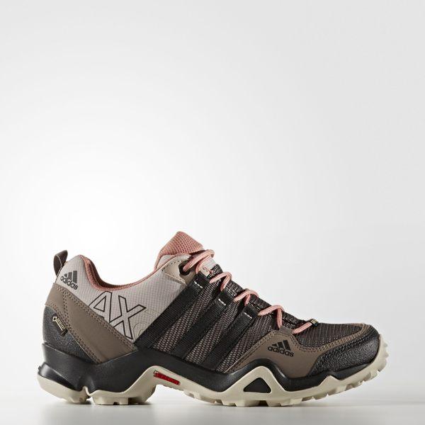 Adidas WMNS Outdoor AX2 GTX Cross 女鞋 登山 防水 米 粉紅 咖啡【運動世界】 AQ3961