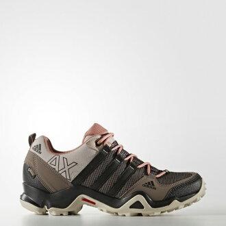 《限時特價↘7折免運》Adidas WMNS Outdoor AX2 GTX Cross 女鞋 登山 防水 米 粉紅 咖啡【運動世界】 AQ3961