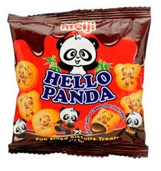 X射線【C102061】Meiji Hello Panda 夾心餅乾-巧克力,點心/零嘴/餅乾/糖果/韓國代購/日本糖果/零食/伴手禮/禮盒