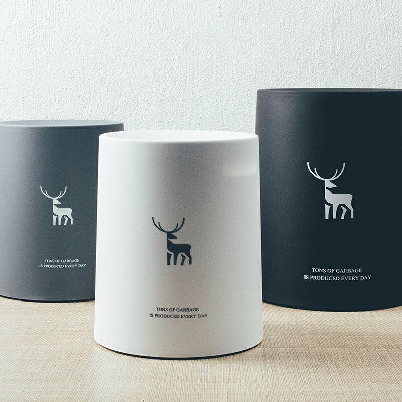 北歐風簡約辦公室臥室廚房衛生間家用客廳創意圓形雙層日式垃圾桶