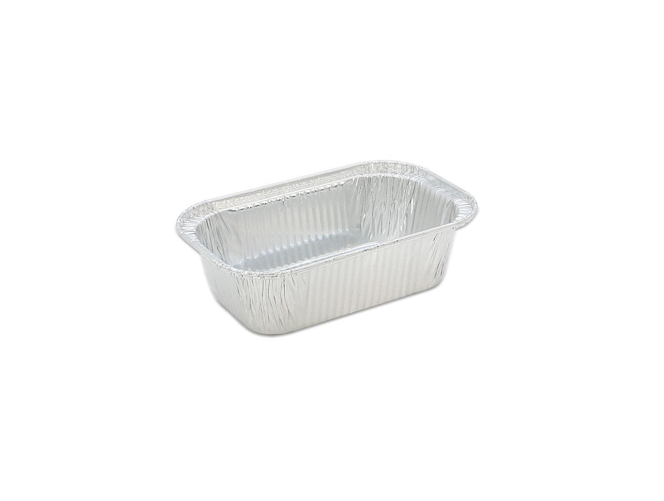 鋁箔容器、錫箔、烤模、水果條 方形 258 (125pcs/包)(鋁紙蓋選配)