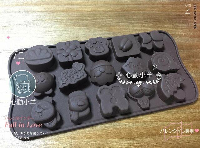 心動小羊^^耐高溫老公公禮物咖啡豆矽膠巧克力模、迷你手工皂蠟燭果凍布丁模製冰格翻糖、香磚、迷你皂模