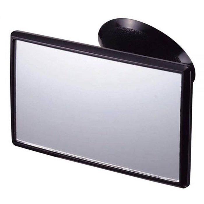 權世界@汽車用品 日本NAPOLEX 吸盤式小型曲面車內安全行車廣角輔助後視鏡 BW-29
