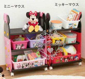 迪士尼米奇米妮收納箱書架日本製317459海渡