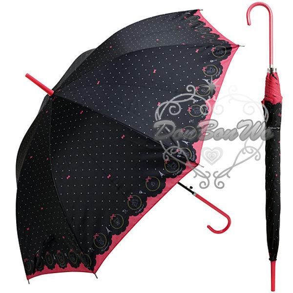 懶懶熊拉拉熊雨傘直立傘水玉蝴蝶結618007海渡