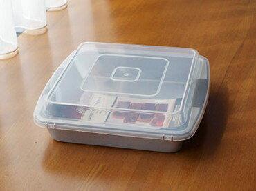 日本製自由之丘麵包發酵盒附蓋可烤箱烤海渡