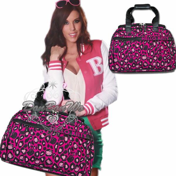 <br/><br/>  KITTY Loungefly聯名旅行袋手提袋粉紅豹紋655508海渡<br/><br/>