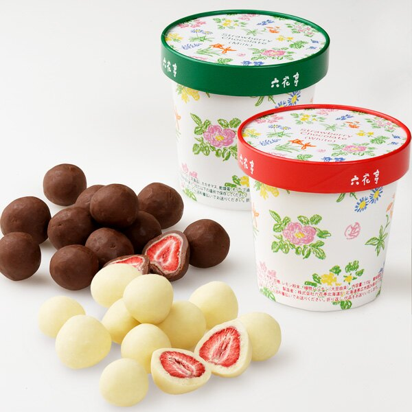 北海道六花亭草莓牛奶黑巧克力 2包裝rokka164海渡