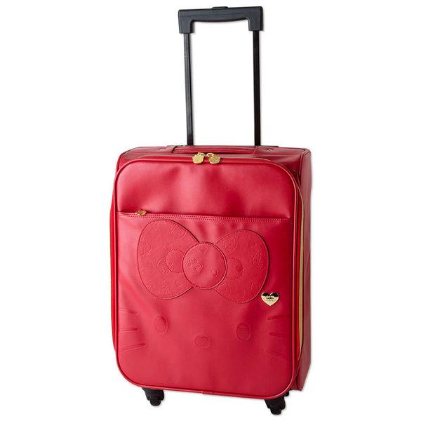 KITTY40周年登機箱旅行箱泰迪熊娃娃紅404409海渡