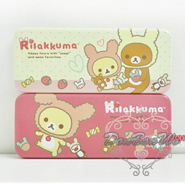 懶懶熊懶妹鉛筆盒收納盒鐵製兔裝玩具1065577海渡