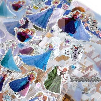 迪士尼冰雪奇緣貼紙立體姊妹閃亮隨機123222海渡