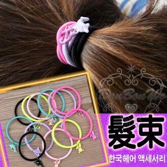 日韓系兔子海豚船錨髮束髮圈2入050560海渡