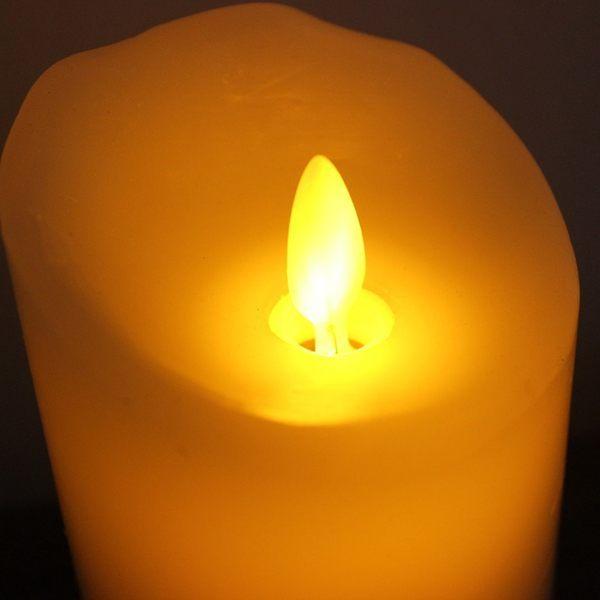 浪漫安全LED燈蠟燭燭台仿真蠟燭20公分020260代購海渡