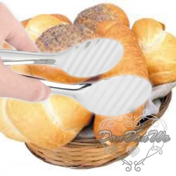 日本夾子麵包夾漢堡夾19CM不鏽鋼拋光095186海渡