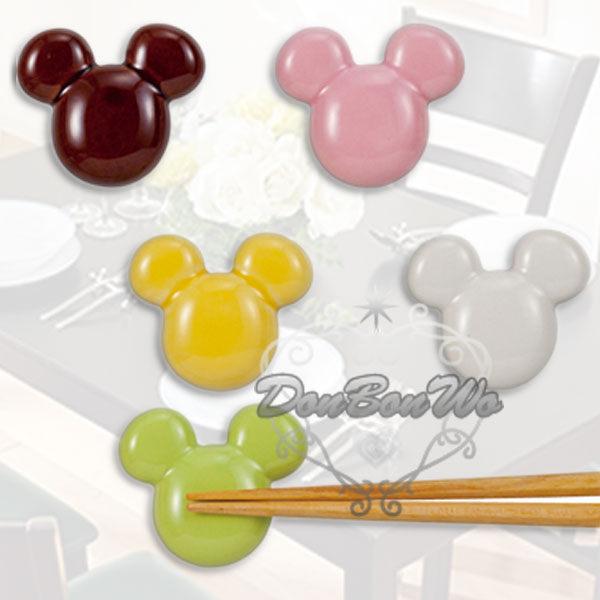 迪士尼米奇筷子架陶瓷置筷架五入馬卡龍大頭230625海渡