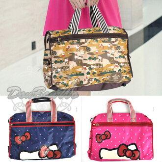 KITTY hallmark聯名旅行袋行李袋手提袋斜背袋多款迷彩駝561656水玉桃561748海渡