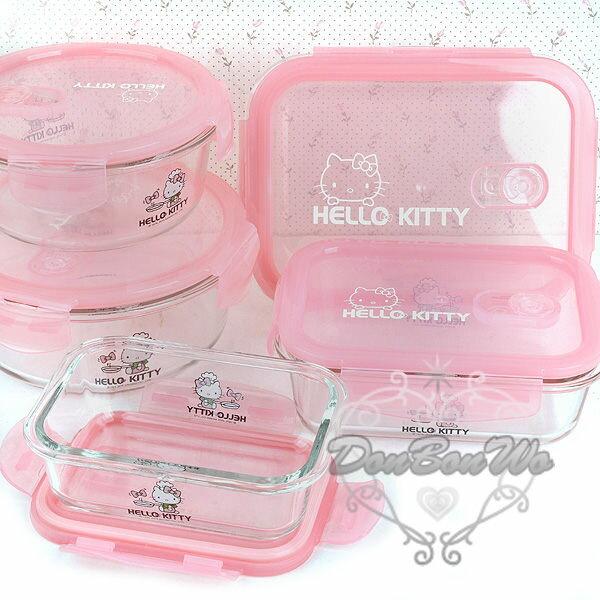KITTY保鮮盒玻璃盒SGS檢驗合格長方形耐熱小221559海渡
