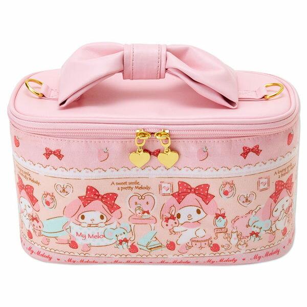 美樂蒂化妝箱收納箱可手提斜背草莓甜心453056海渡