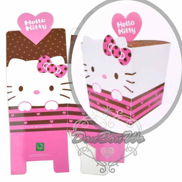 KITTY紙盒禮物盒留言盒DIY粉咖啡847324海渡