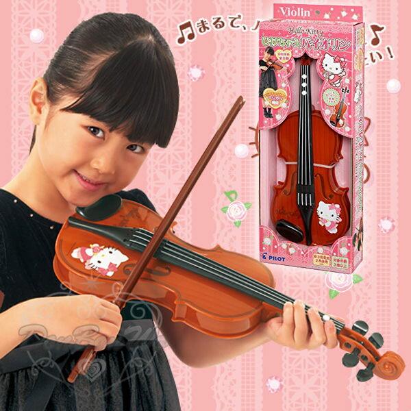 KITTY小提琴音樂玩具粉色抱花607459海渡