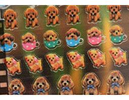 韓國連線貴賓狗靴下貓貼紙手帳本DIY貼紙環遊世界714210海渡