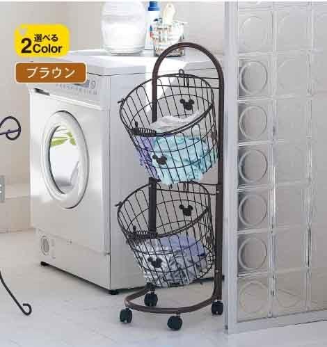 日本製米奇分類垃圾桶洗衣籃不占位滾輪代購海渡