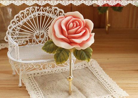 farm house 掛勾玫瑰法式壁飾 海渡