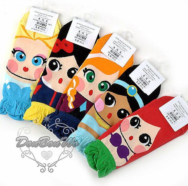 韓國連線冰雪奇緣Q版美人魚白雪公主愛麗絲襪子691110